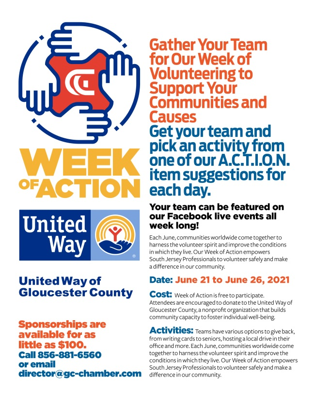 Gloucester County Chamber of Commerce Announces its Week of Volunteering!